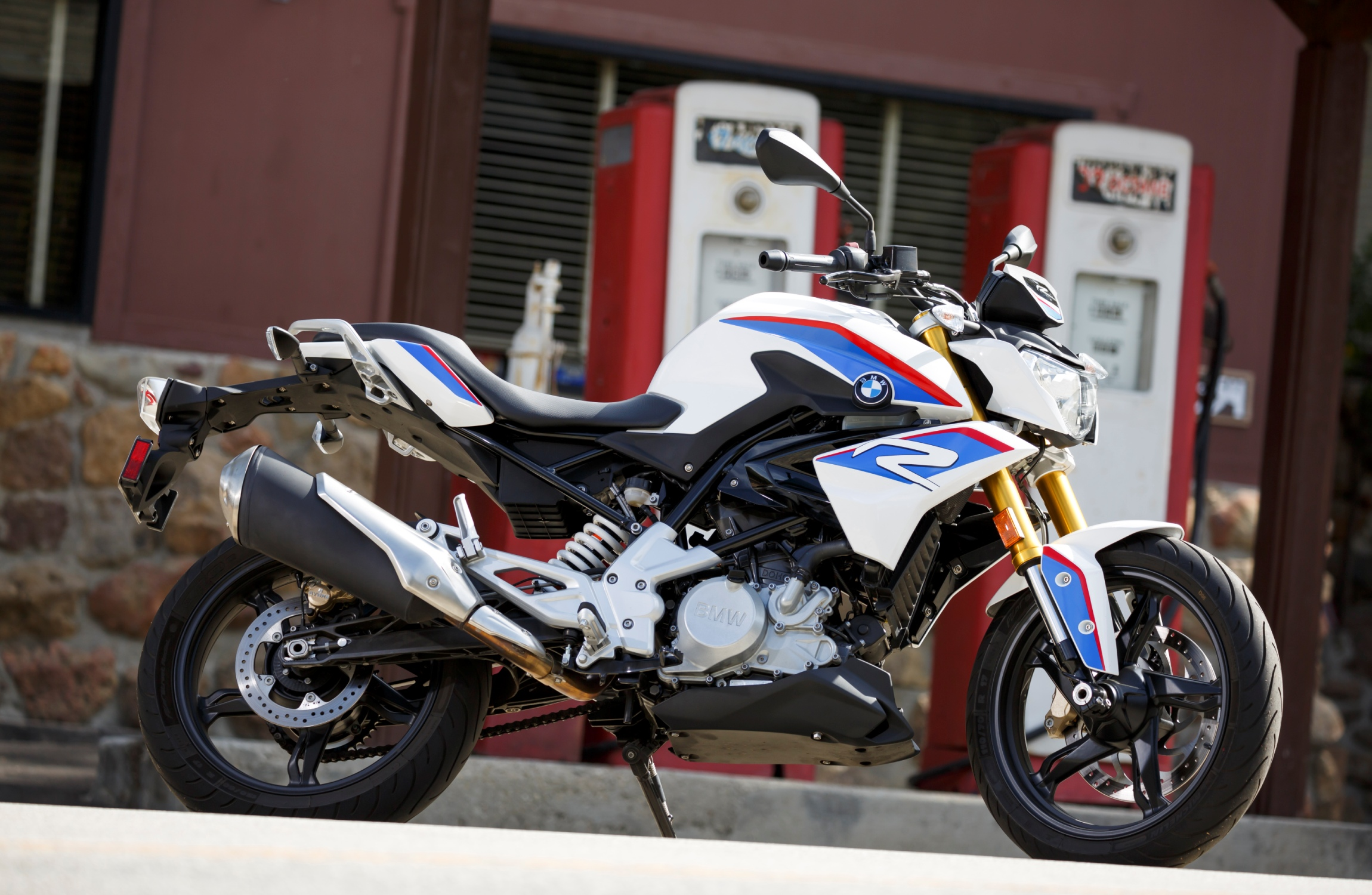 BMW G 310 R at the Rock Store.