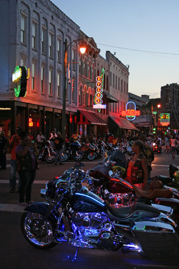 Bike Night on Beale Street in Memphis