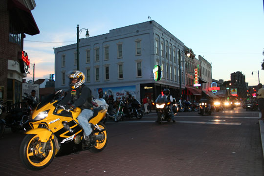 Bike Night on Beale Street, Memphis
