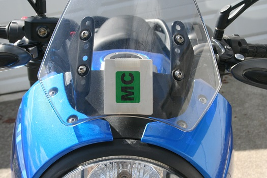 mounting an E-ZPass on a motorcycle