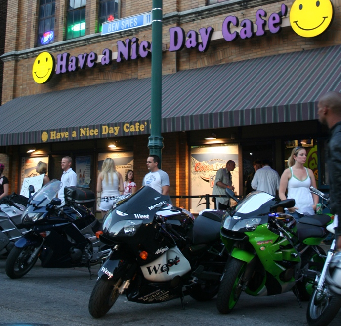 Motorcycles at the Nice Day Cafe