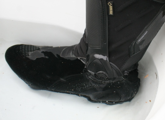 Dainese TRQ-Tour Gore-Tex boots in water