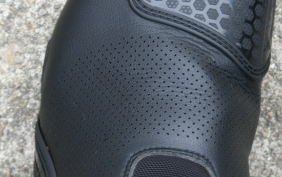 micro perforations in the Dainese TRQ-Tour boots