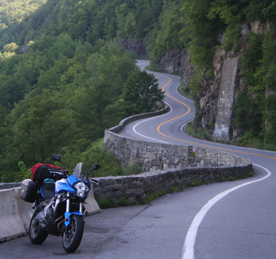 Kawasaki Versys at Hawks Nest, New York