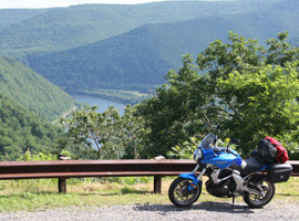Kawasaki Versys at Hyner View S.P., Pennsylvania