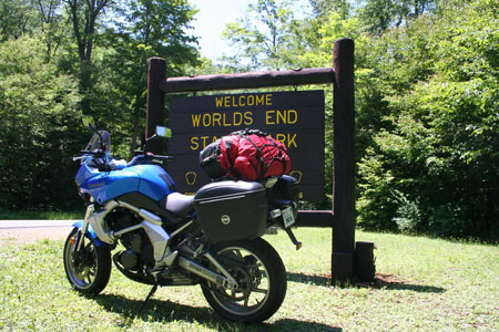 Kawasaki Versys at Worlds End S.P., Pennsylvania